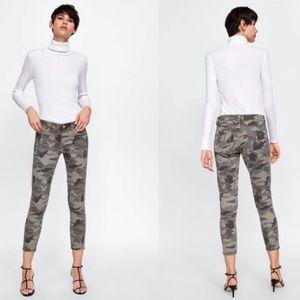 EUC ZARA Z1975 Camo Camouflage Skinny Jeans 06